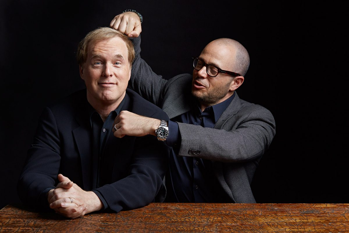 Brad Bird and Damen Lindelof, creators of the movie Tomorrowland, shot for WIRED magazine.