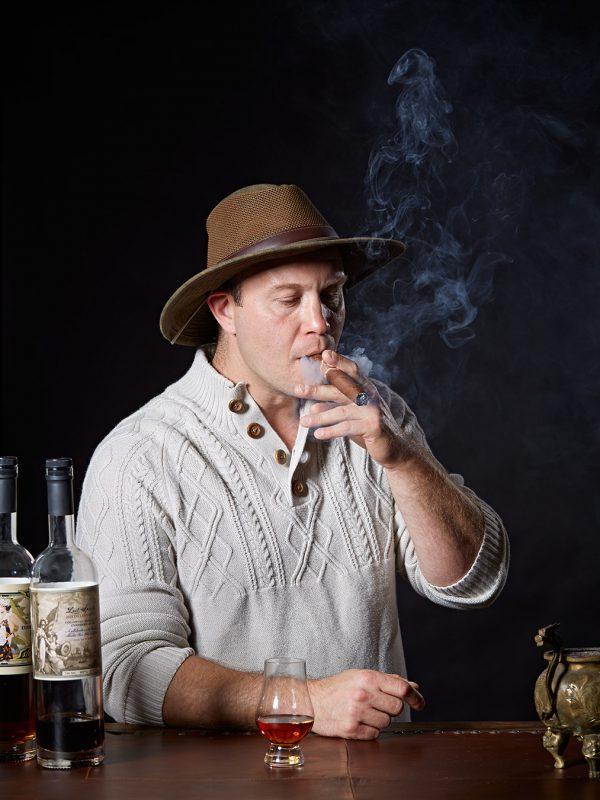 Brian Davis of Lost Spirits Distillery for WIRED.
