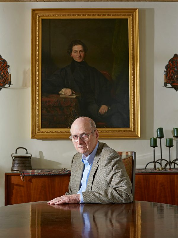 Professor Alain Enthoven at home in Atherton, California for Stanford Business magazine.