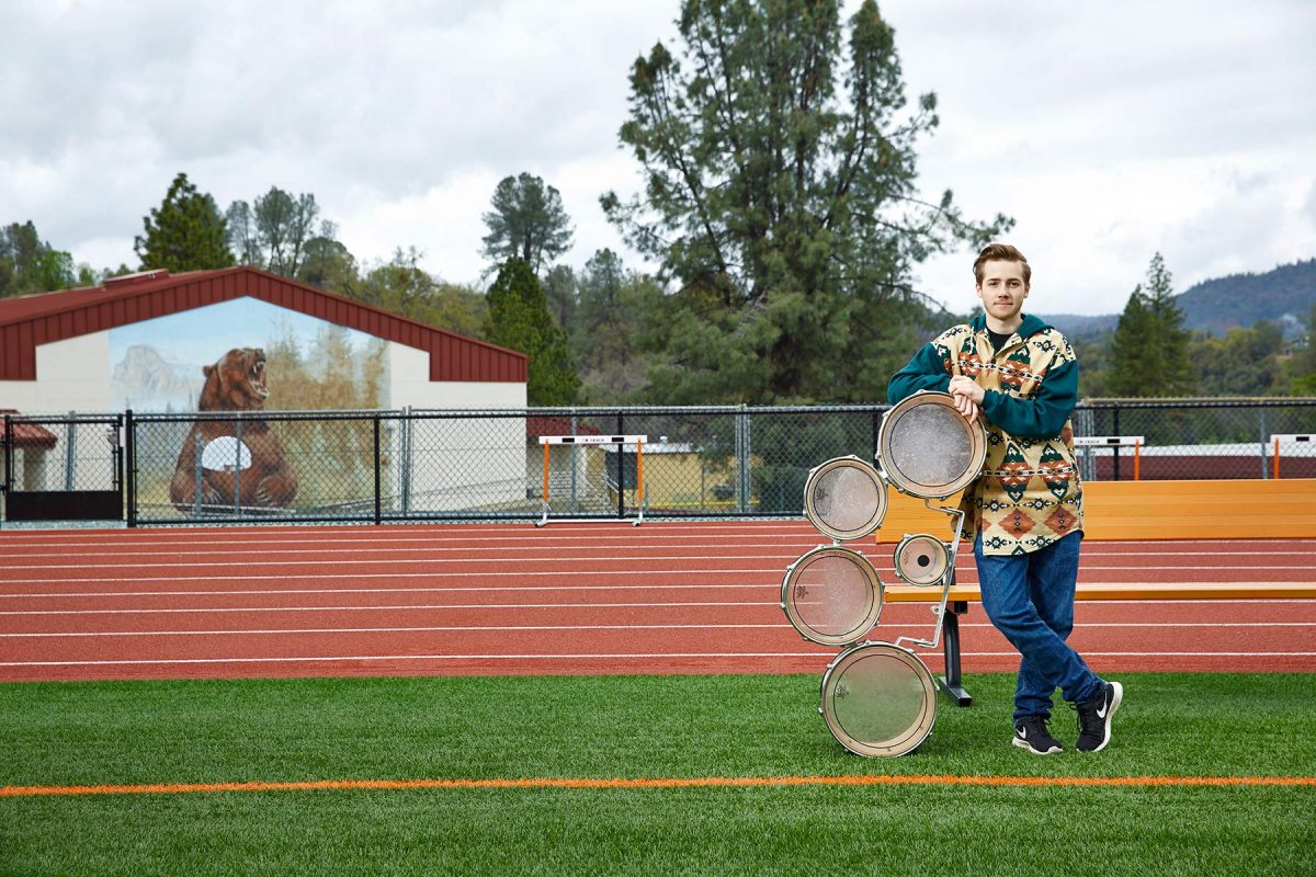 Trans teen, Oliver Bishop in Tuolomne, California for UCSF Magazine.