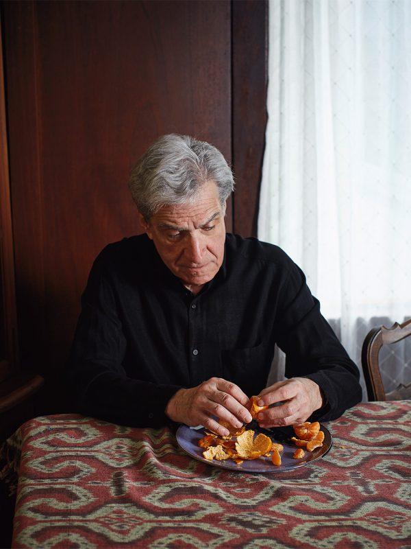 Poet laureate, Robert Pinsky photographed for Boston University.