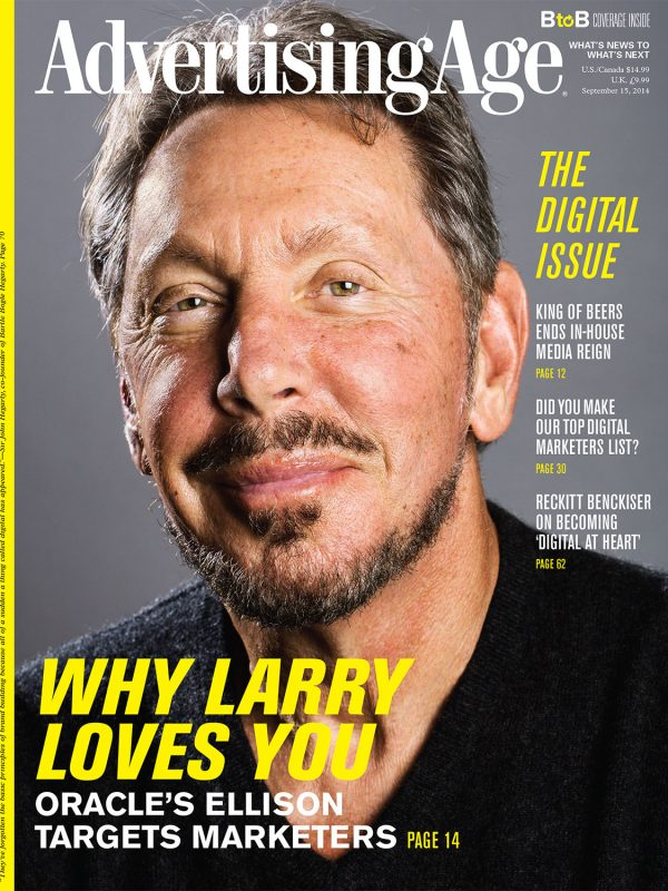 Larry Ellison for Ad Age.