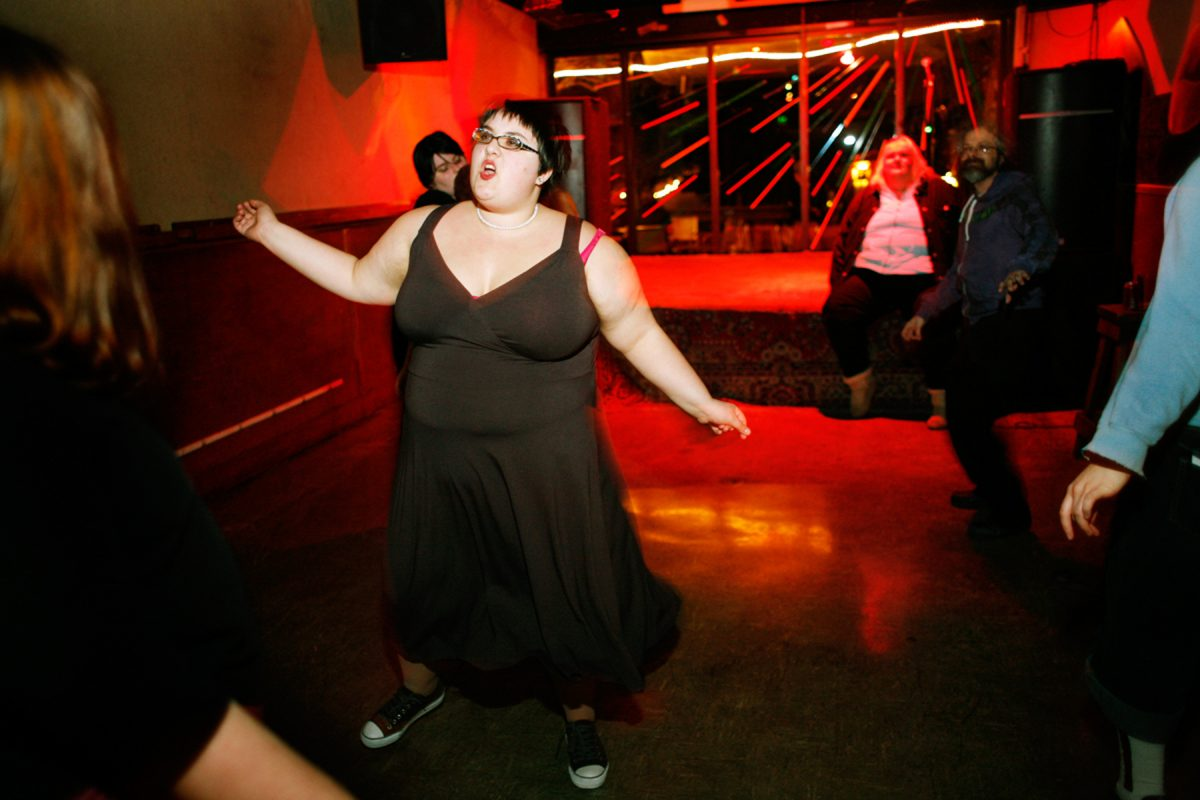 "Rae Bergamino runs Heavy Rotation – a fat friendly dance event for ""size rebels, fatties, and chubsters"" – at El Rio in San Francisco every second Friday of the month."