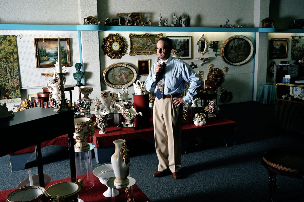 Gary Puccineli of Mission Gift Shop. This family run business has been closed since 2007.