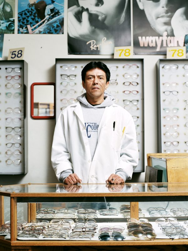 Rafael Barrientos, Salvadoran worker at Payless Optical on Mission Street.