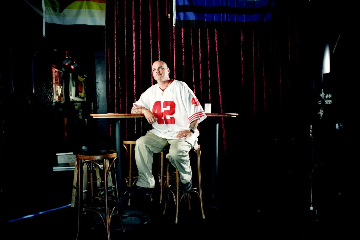 Kevin Lobo, known as Kiko, at Deco Lounge on Larkin Street.