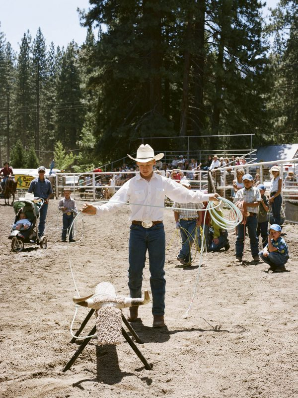 A contestant at the 2008 Silver Buckle Rodeo in Taylorsville, California.