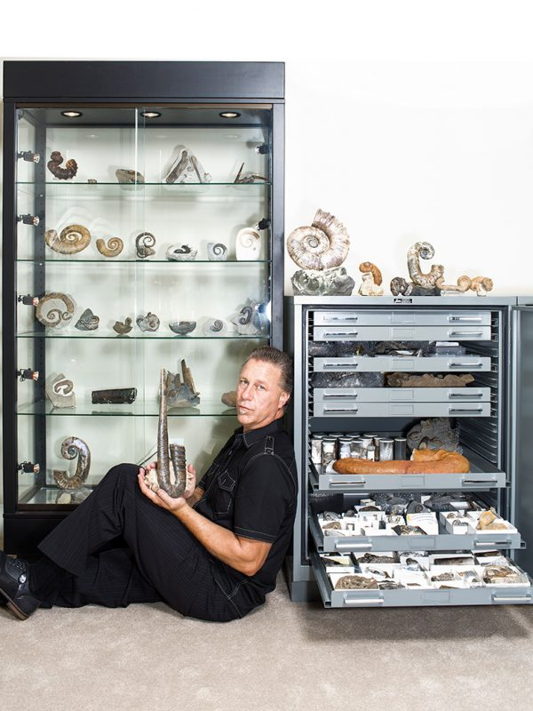 Joseph Huston's fossil collection for California Home and Design.