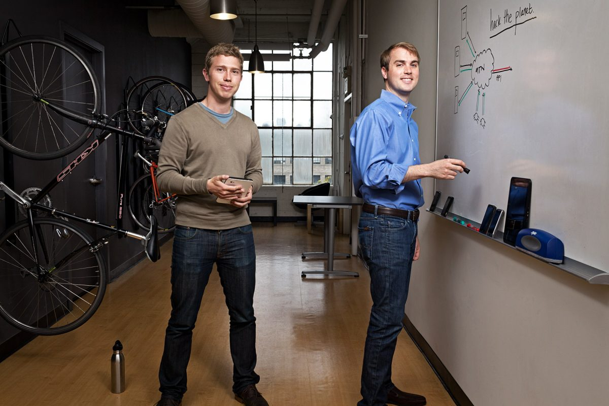 James Burgess and Kevin Mahaffey, Founders of Lookout Mobile Security.