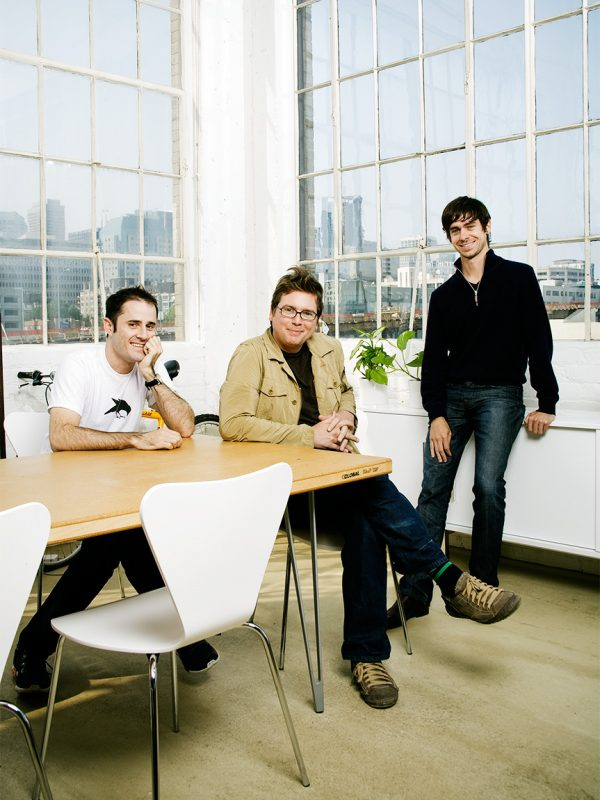 Twitter Co-Founders, Evan Williams, Biz Stone and Jack Dorsey.