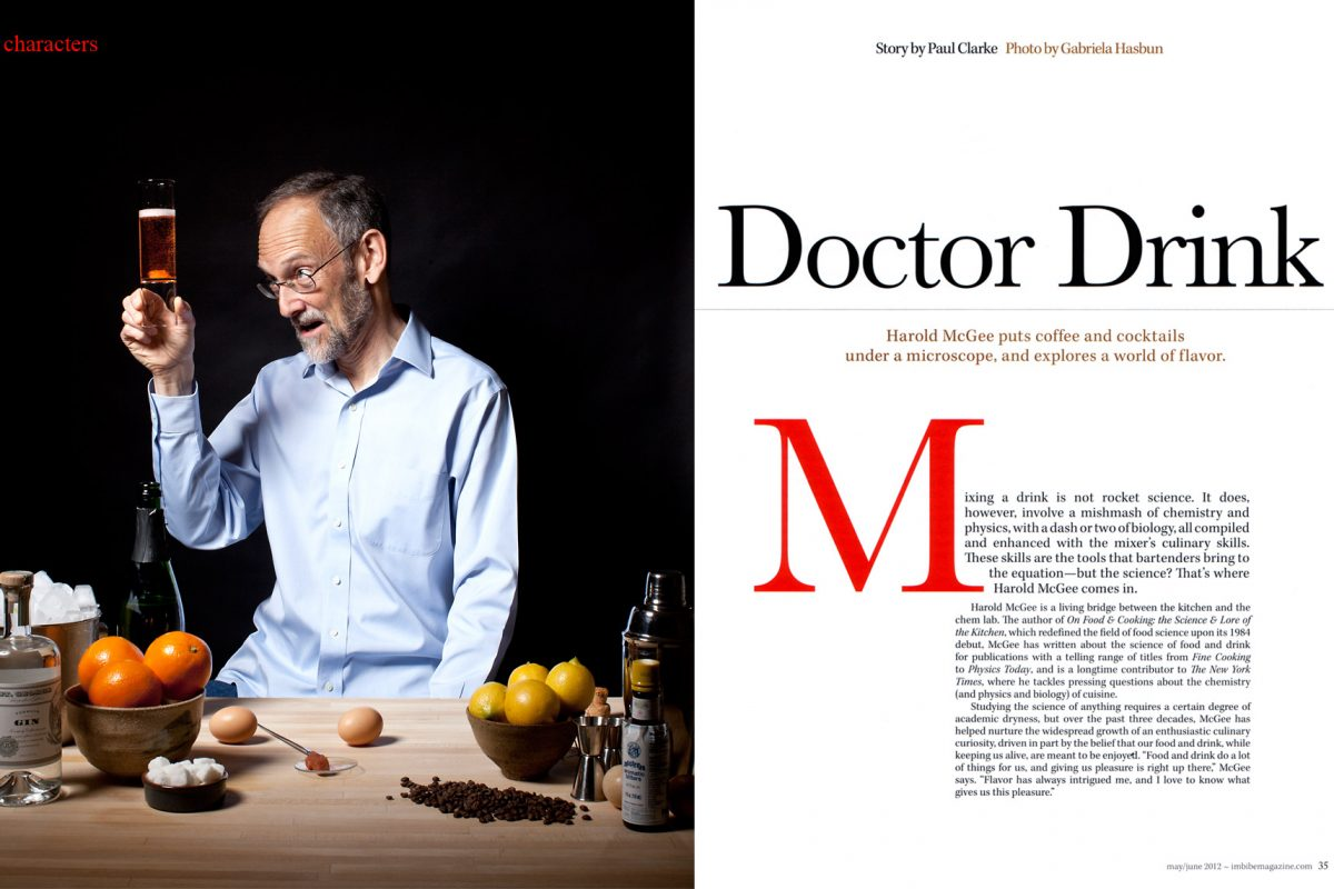Harold McGee for Imbibe magazine.