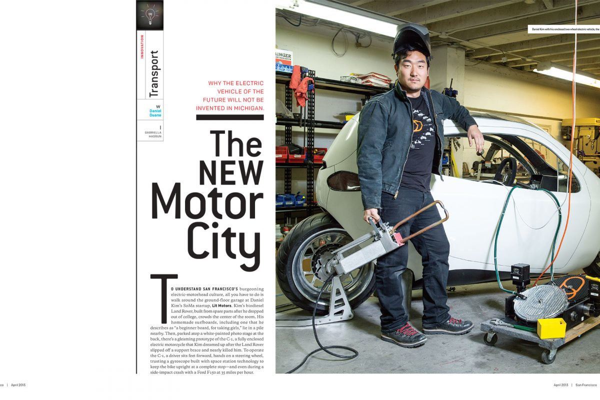 Daniel Kim of Lit Motors for San Francisco magazine.