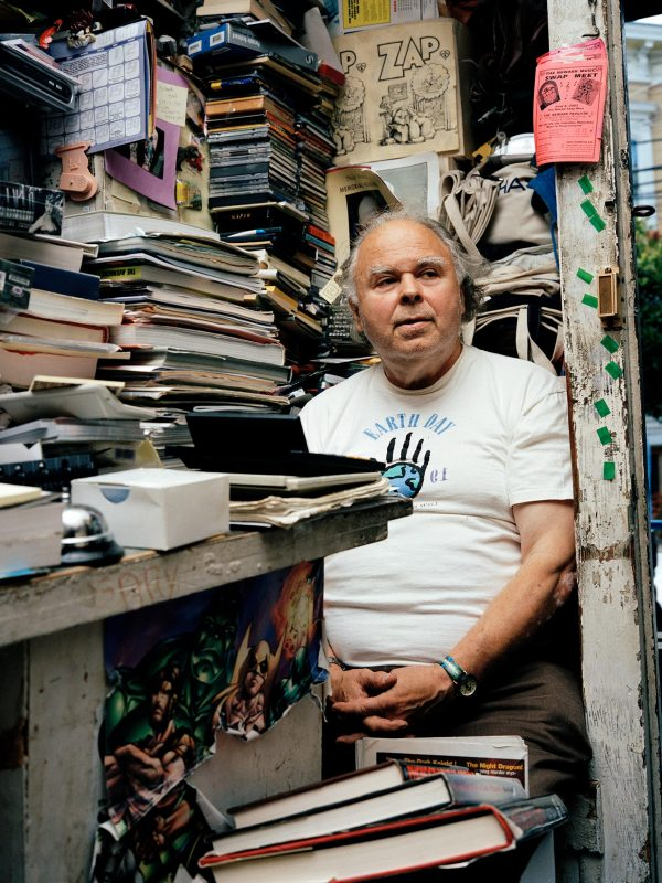 Gary is the owner of one of the very first comic book shops in the United States. His store, the SF Comic Book Shop has been on Mission and 23rd St. over 30 years. No more than four people fit in the space where stacks and stacks of comic books are pilled on top of each other.   SF Comic Book Shop closed down by 2009 and Gary died about 5 years later.