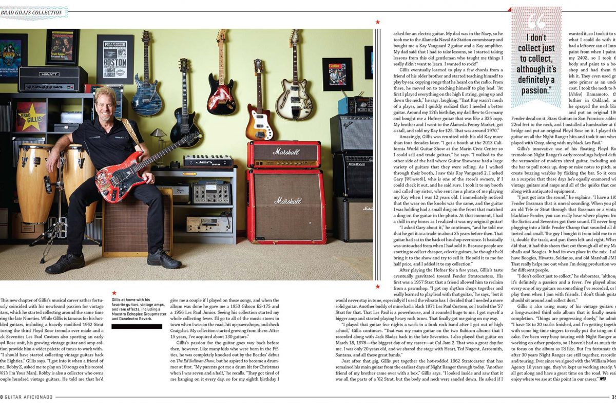 Brad Gillis for Guitar Aficionado