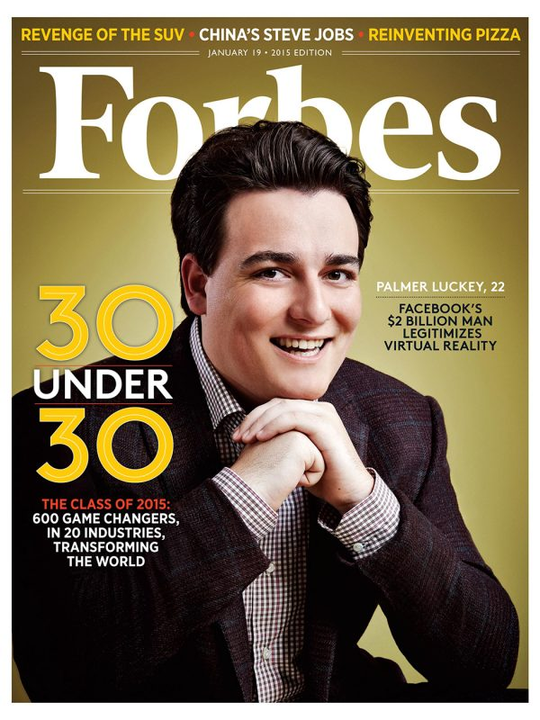 Palmer Luckey for Forbes Magazine.