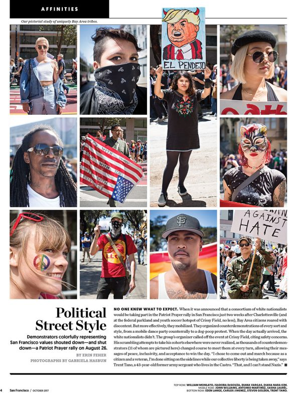 Protestors for San Francisco magazine.