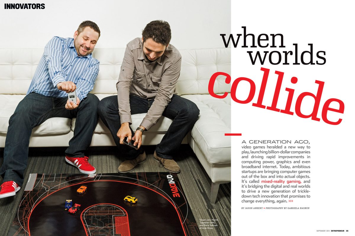 Anki Co-Founders for Entreprenuer magazine.