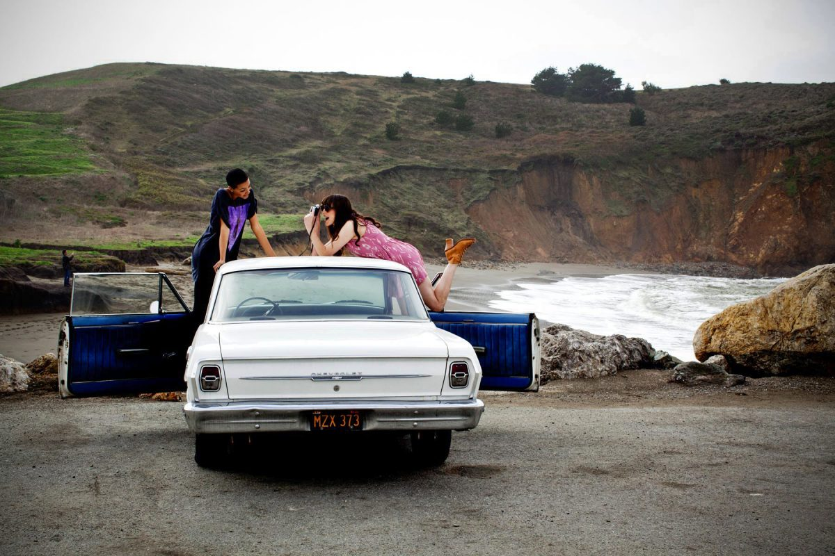 Editorial feature for Bust magazine shot in Pacifica, California at the Sea Breeze motel.