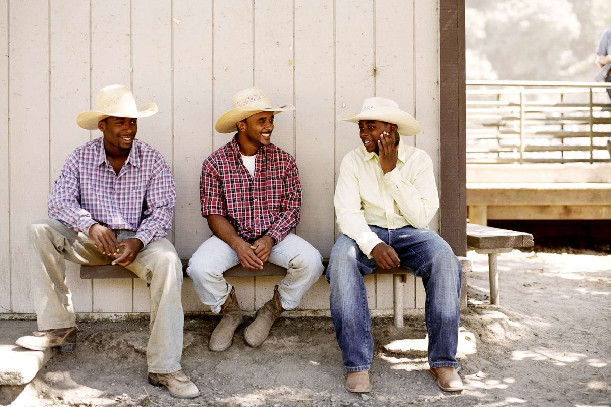 Cowboys at The Bill Pickett Invitational Rodeo. Oakland, California. 2008