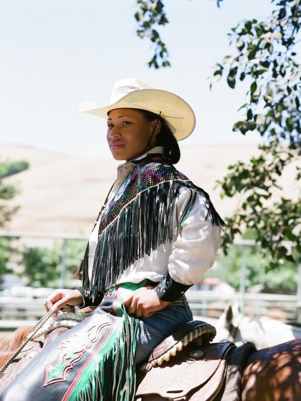 Cowgirl Danesha Henderson at The 2008 Bill Pickett Invitational Rodeo. Oakland, California.