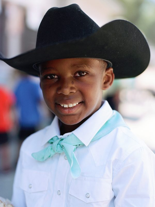 Eric Hunter Jr. at The Bill Pickett Invitational Rodeo. Oakland, California. 2017
