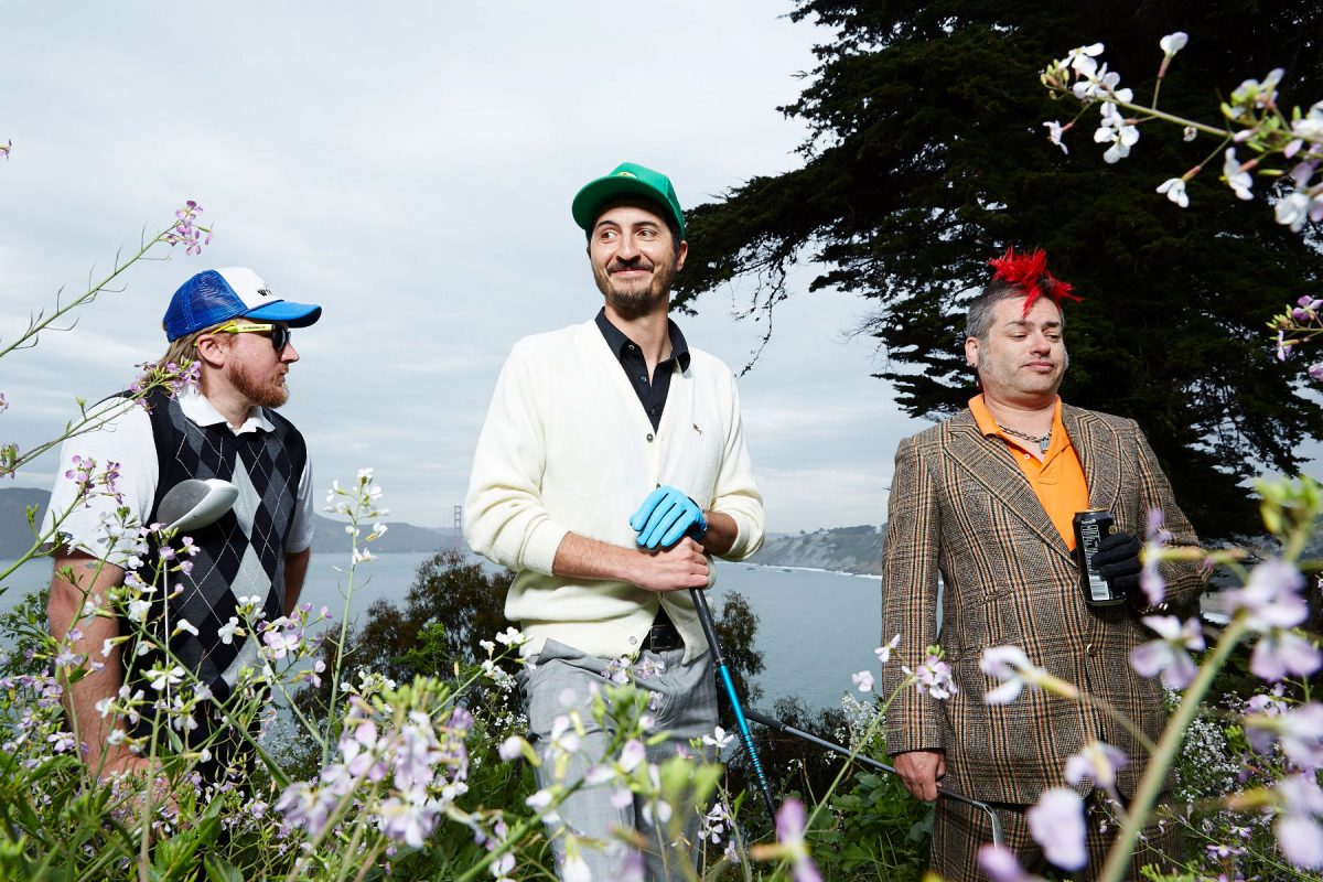Straight Willie Dills, Jon Lucky Kick Morley, and Fat Mike Burkett, play golf at Lincoln Park in San Francisco.
