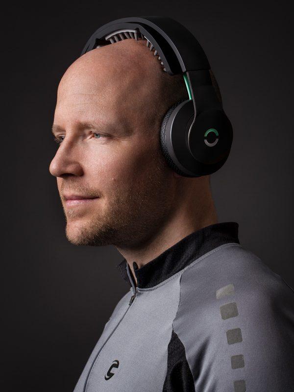 Halo Neuroscience co-founder, Brett Wingeier, photographed for IEEE Spectrum magazine.