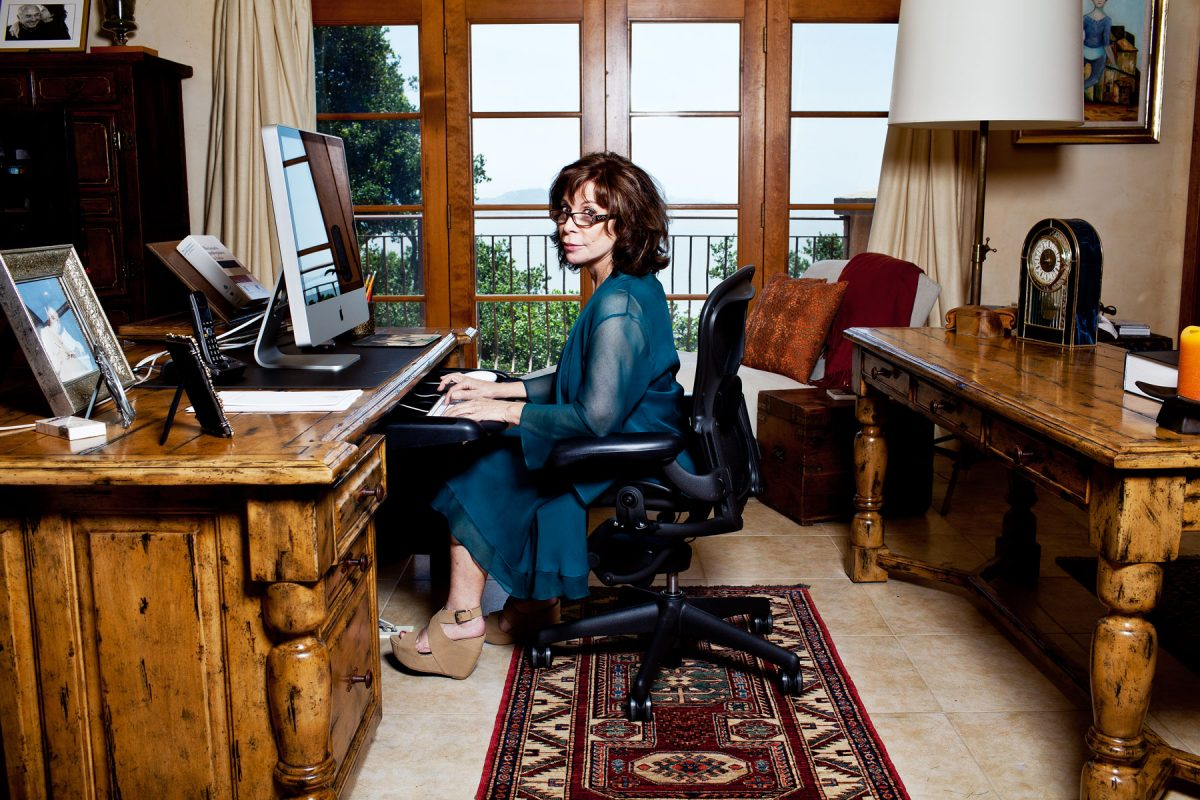 Isabel Allende at home in Sausalito.
