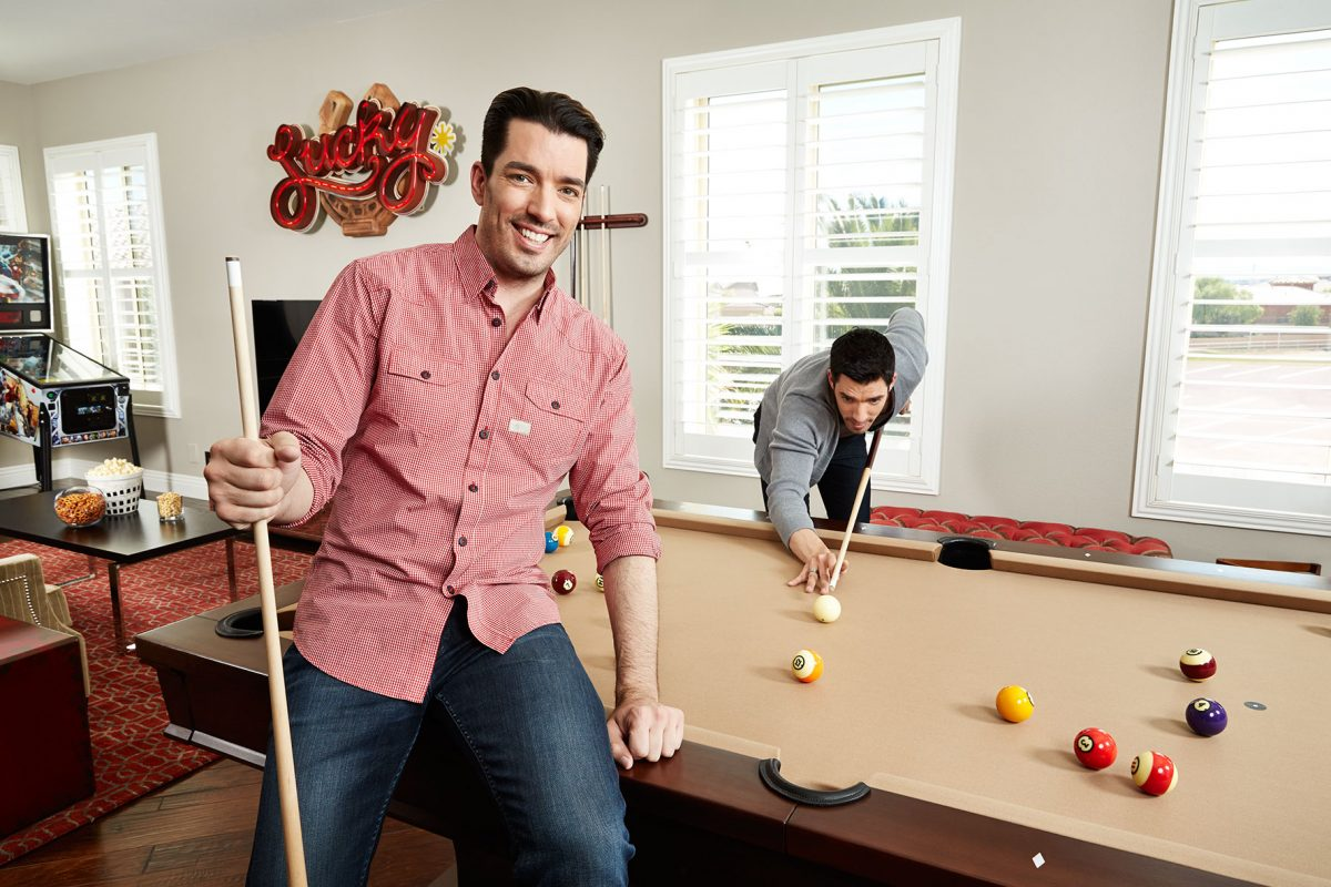 Property Brothers in their Las Vegas home for People magazine.
