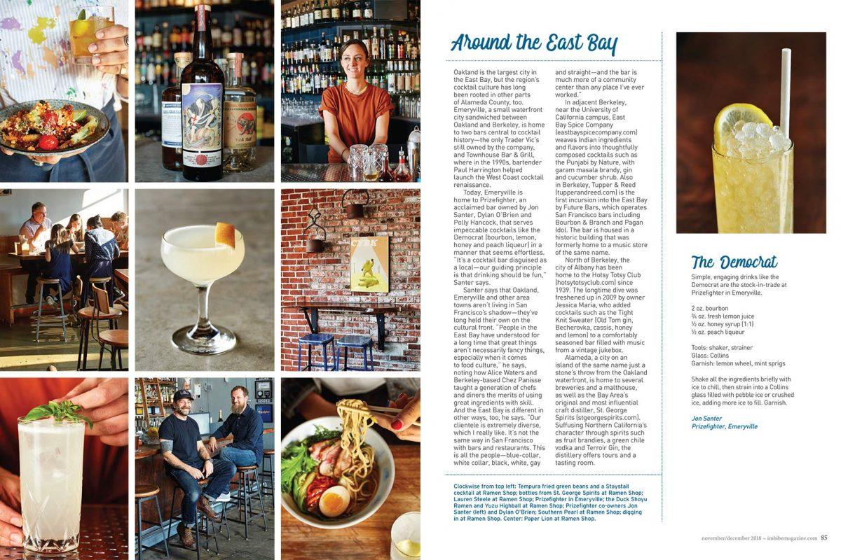 Oakland Bars for IMBIBE magazine Dec 2018 Issue.