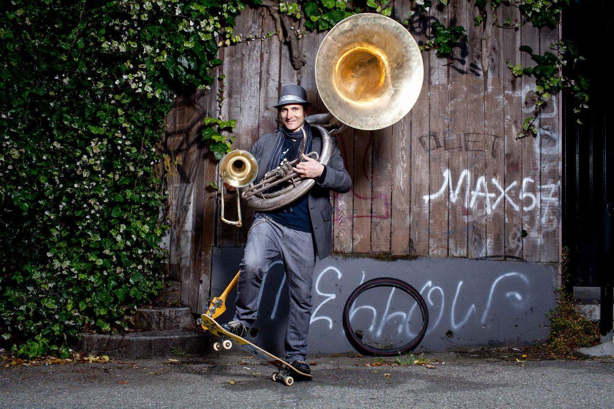 Musician Adam Theis for 7x7 magazine.