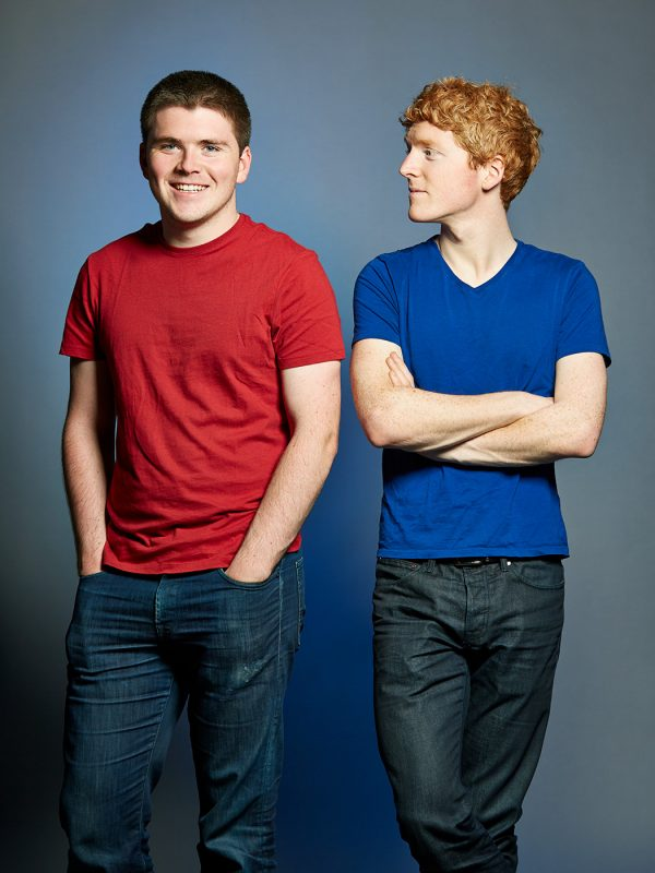John and Patrick Collison, Stripe Co-Founders.