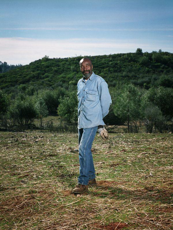 California Cashmere founder photographed at Al-Rafiq Farm for Forbes magazine.
