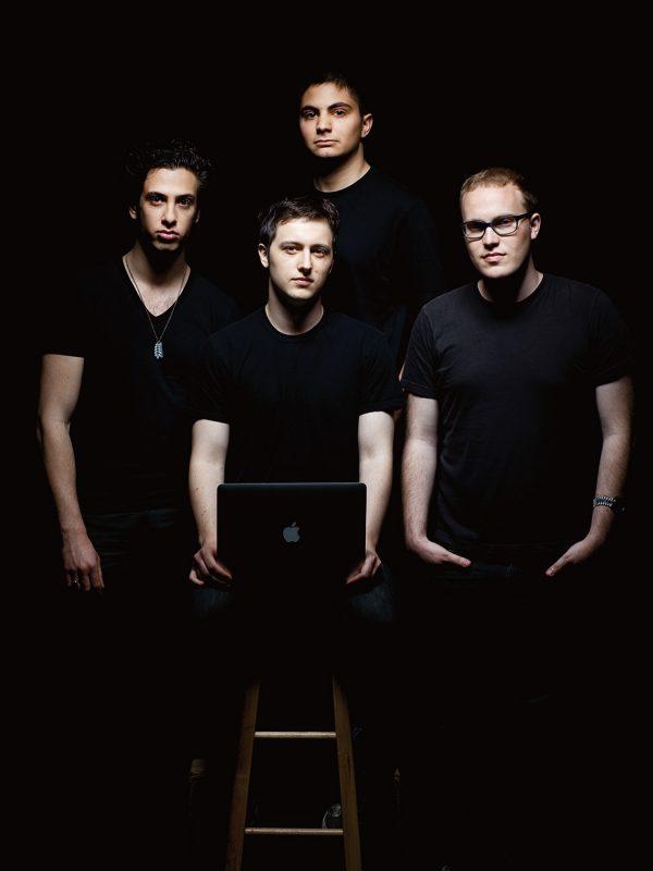 Diaspora* co-founders, Maxwell Salzberg, Daniel Grippi, Ilya Zhitomirsky, and Rafael Sofaer, photographed in San Francisco, CA.