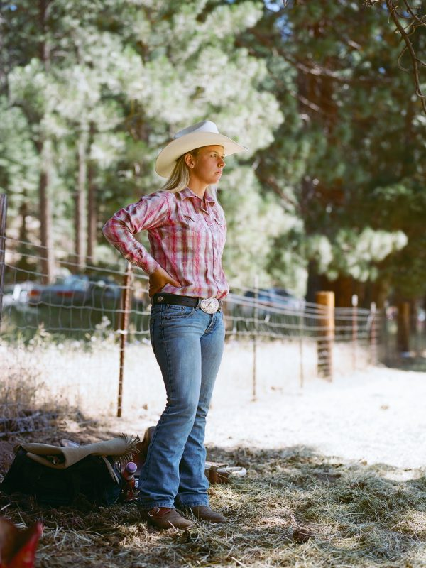 Silver Buckle Rodeo contestant in Taylorsville, California. 2009.