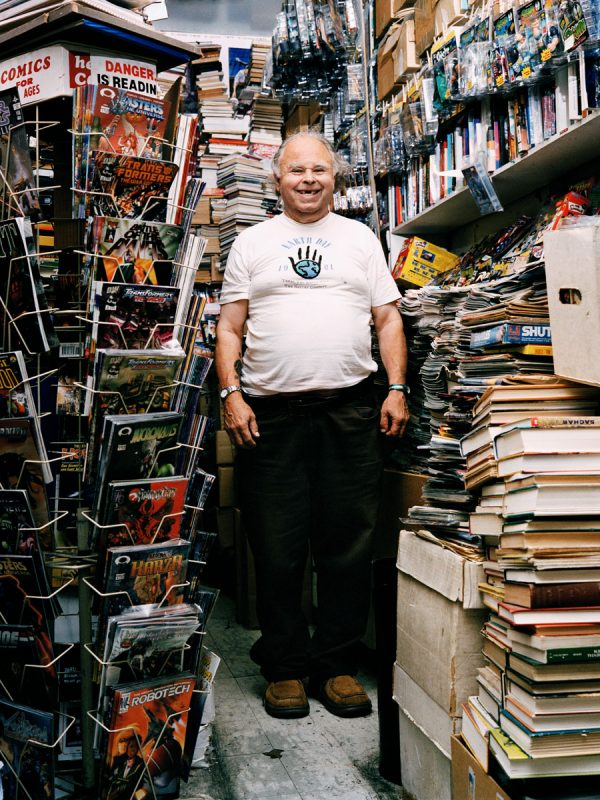 Gary Arlington of S.F. Comic Book Shop, one of the first Comic Book shops in the nation called The Mission home for over 30 years. It is currently closed. Gary passed away in early 2014.