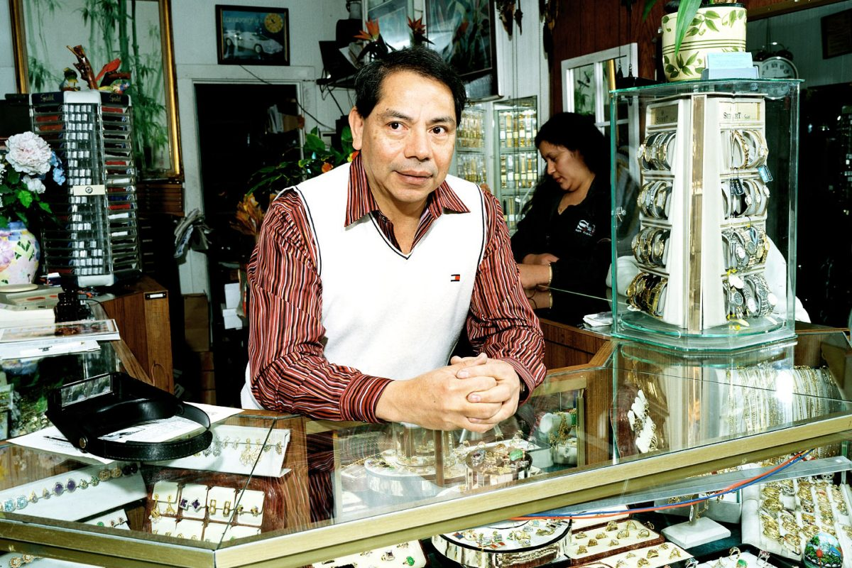 Godofredo Cruz owner of Godofredo's Jewelry on 22nd and Valencia is still on 22nd and Valencia Street. One of the very few businesses that have survived the gentrification San Francisco is facing.