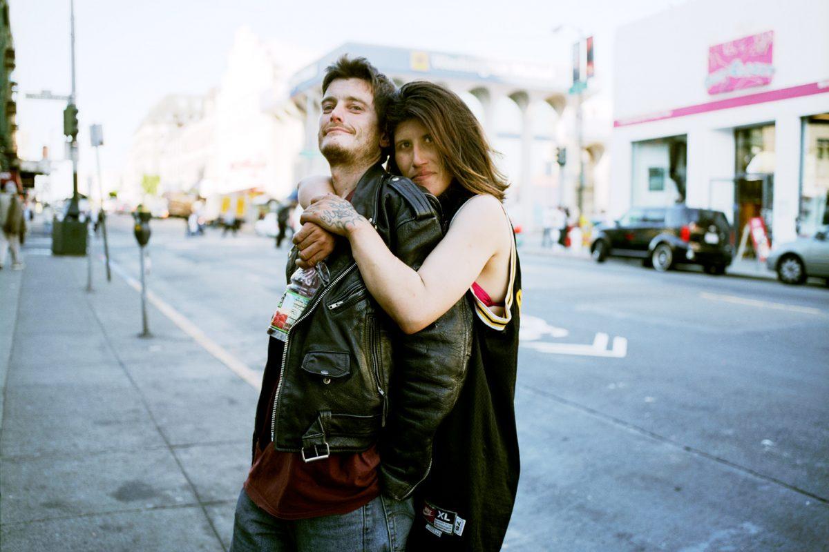 Deeth and Ian on Polk Street.