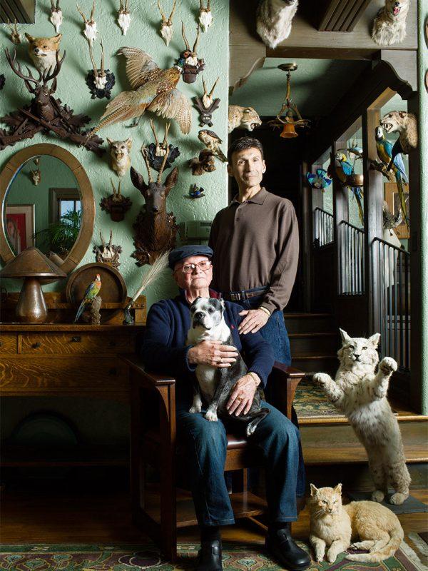 Collectors Skip Oak and his partner.