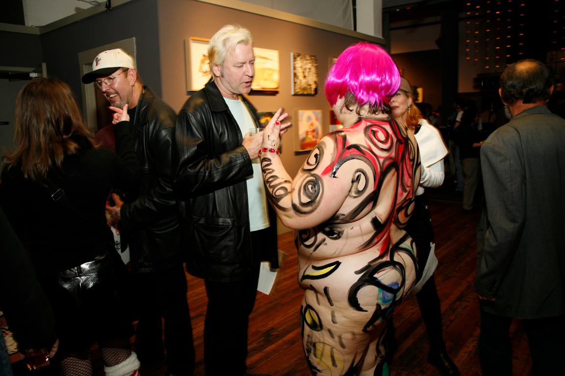 Art fundraiser for GLBT society at 111 Mina Gallery.