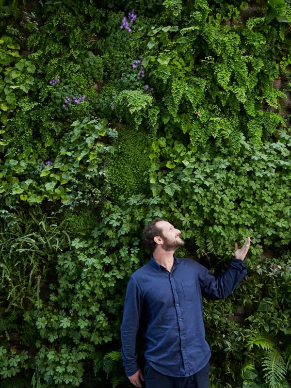 David Brenner creator of the largest living wall at SFMOMA. Shot for Sunset magazine.