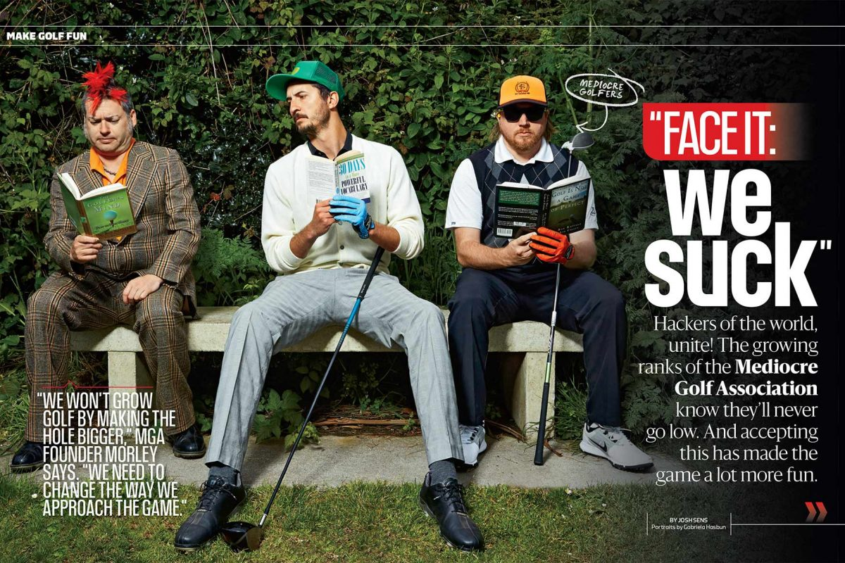 Mediocre Golf Association for Golf Magazine.