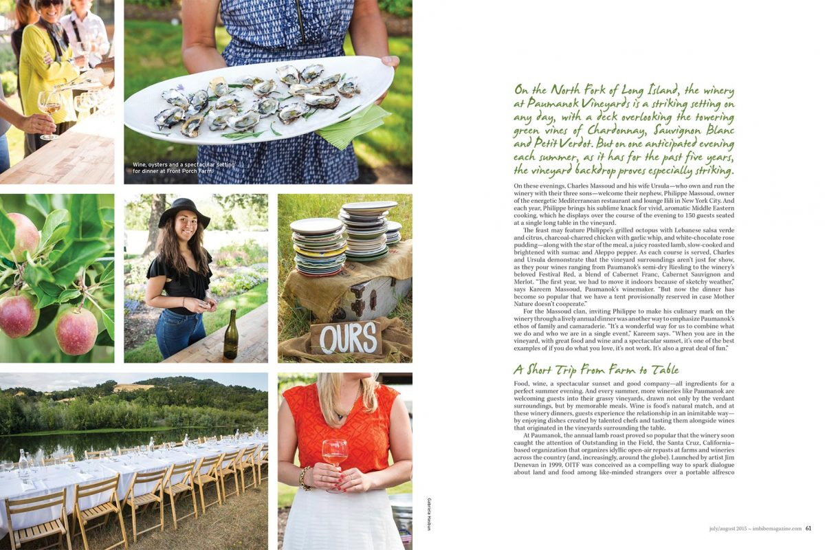 Outstanding in the Field for Imbibe magazine.