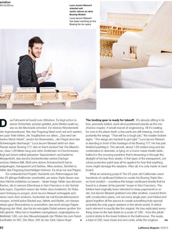 Luca Iaconi- Stewart forLufthansa magazine.