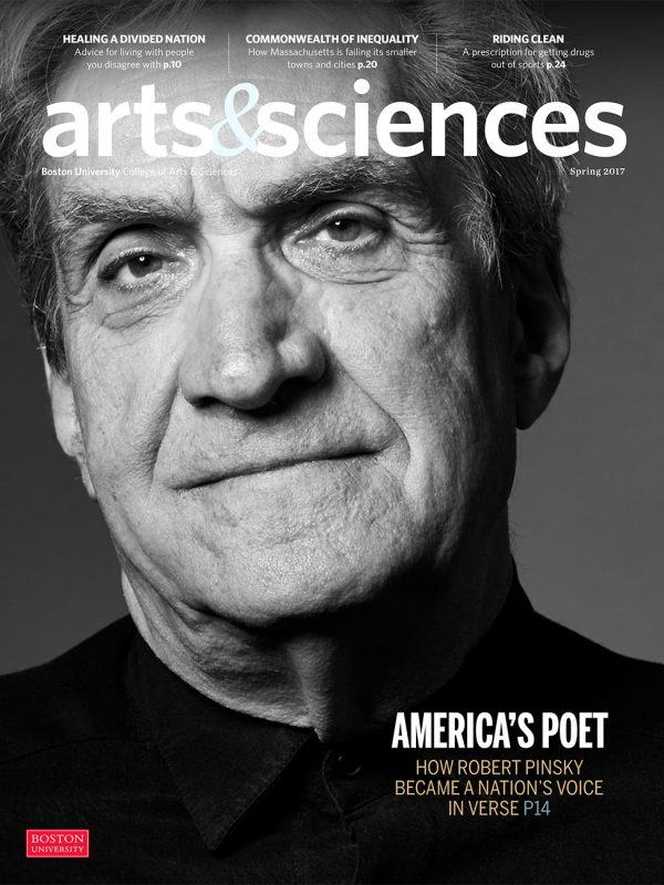 Poet Laureate, Robert Pinsky, for Boston University.