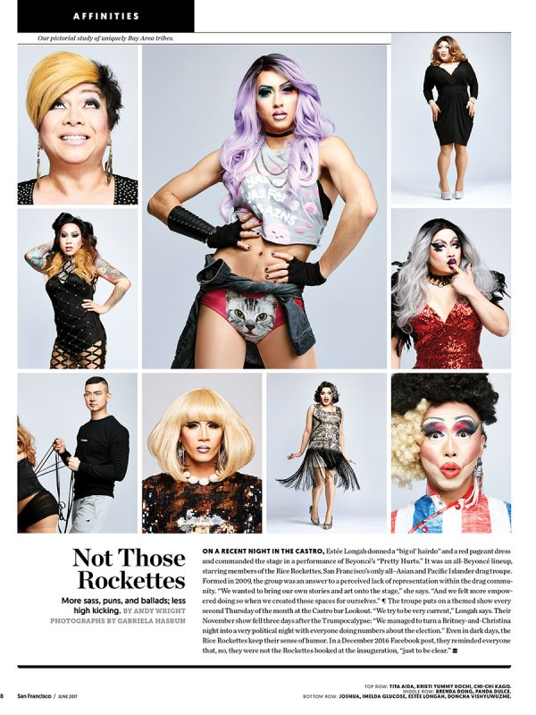 The Rice Rockettes for San Francisco Magazine Affinities.