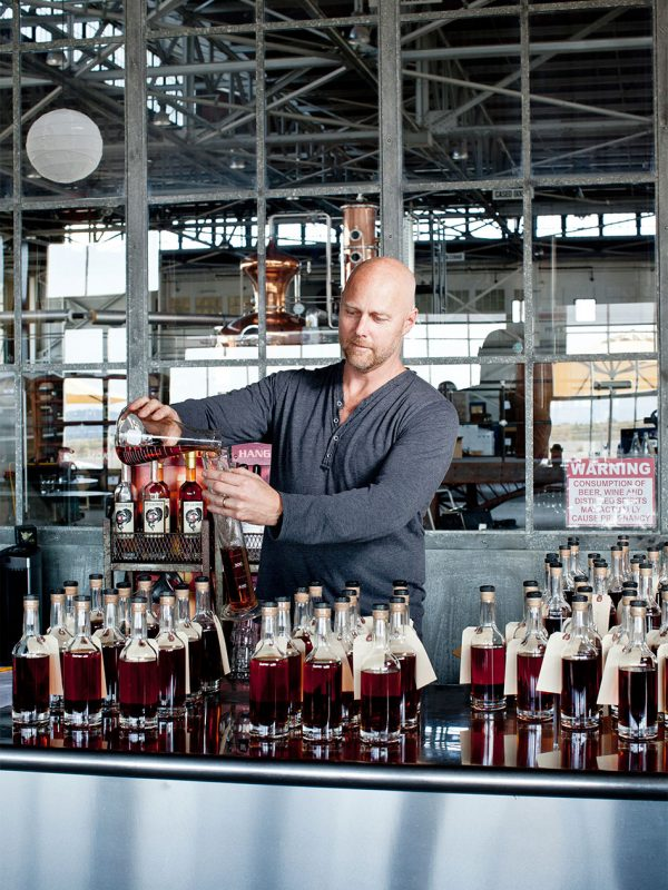 Master distiller Lance Winters at St. Georges in Alameda, Ca.