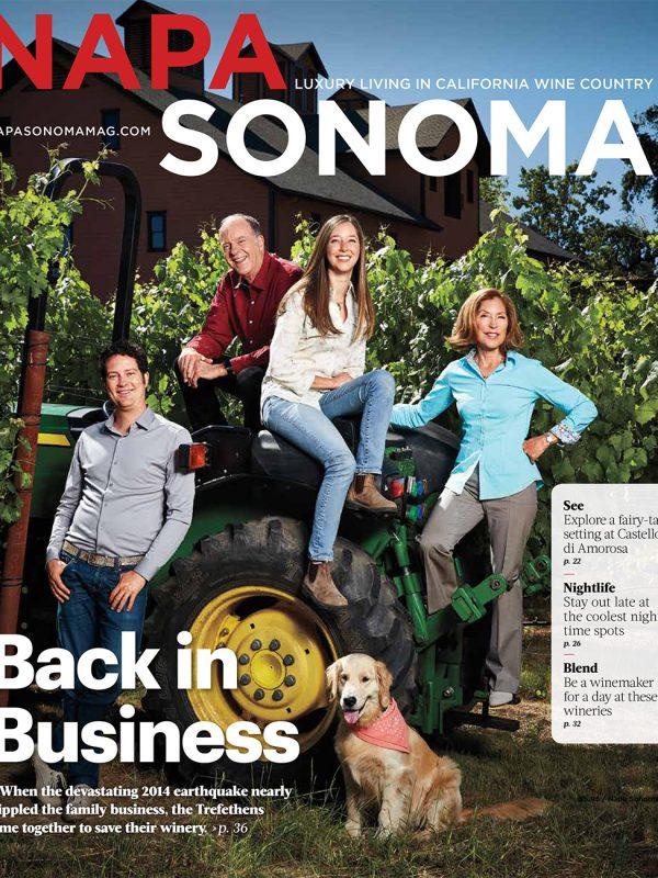 Trefethen Family Vineyards for Napa & Sonoma magazine.