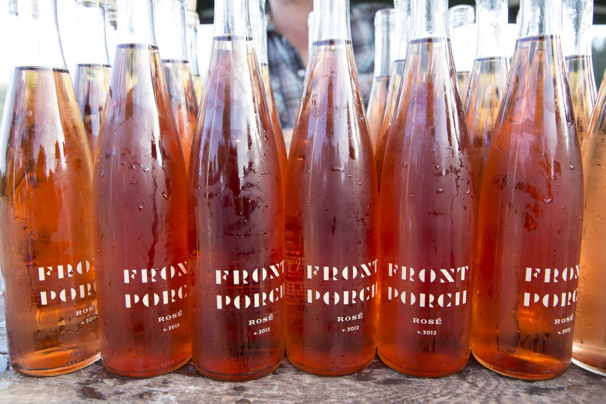 Front Porch wines served at Outstanding in the Field dinner in Sonoma, Ca.