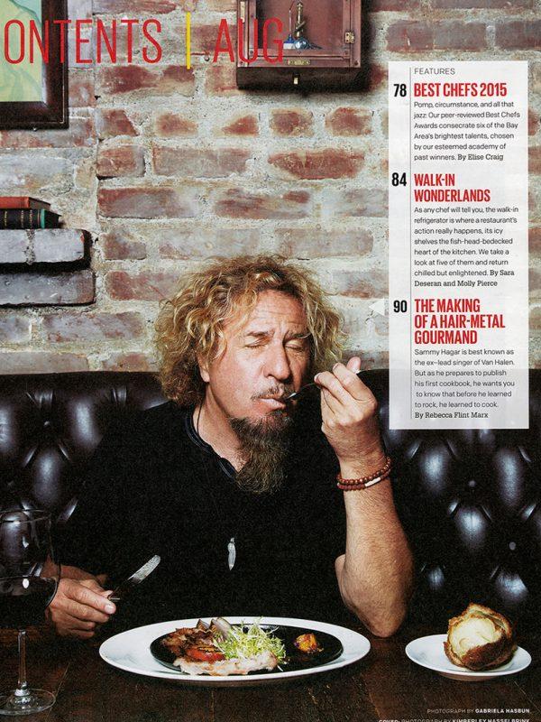 Sammy Hagar for San Francisco magazine.